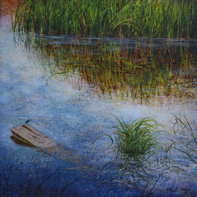 "Spring on Dragonfly's Wing 36""x36"""