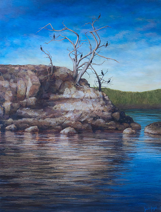"The Castle of Cormorants 55""x42"""