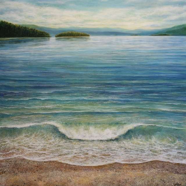 "Wave Acrylic on Panel 48""x48"""